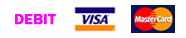 Payment methods - debit, visa, mc