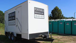 Restroom Trailers for rent near Hattiesburg MS